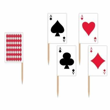 150x stuks casino thema cocktailprikkers