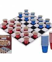 Drankspel drinkspel shotjes dammen met 24 bekertjes